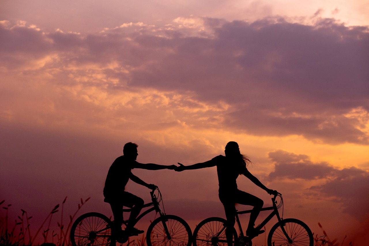 bicycles, couple, silhouettes-1867046.jpg